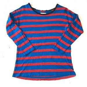 Madewell stripe 3/4 sleeve shirt